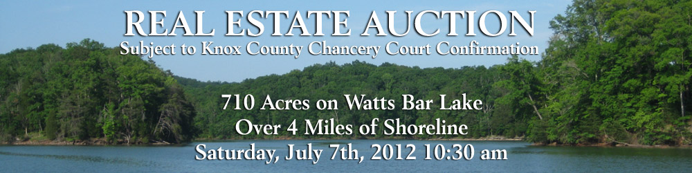 Real Estate Auction - 709 Acres on Watts Bar Lake